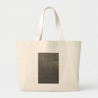 Leather look grey texture template diy add text large tote bag
