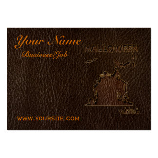 Leather-Look Halloween 1 Large Business Card