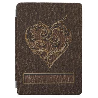 Leather-Look Heart Dark iPad Air Cover
