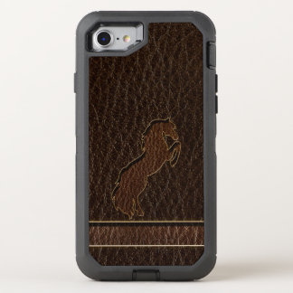 Leather-Look Horse 2 Dark OtterBox Defender iPhone 7 Case