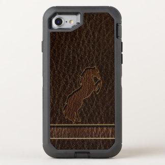 Leather-Look Horse 2 Dark OtterBox Defender iPhone 8/7 Case