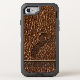 Leather-Look Horse 2 OtterBox Defender iPhone 8/7 Case