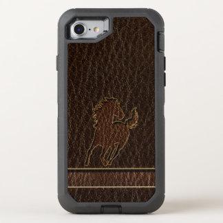 Leather-Look Horse Dark OtterBox Defender iPhone 8/7 Case