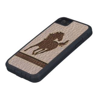 Leather-Look Horse Soft iPhone 5 Cases