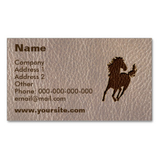 Leather-Look Horse Soft Magnetic Business Card