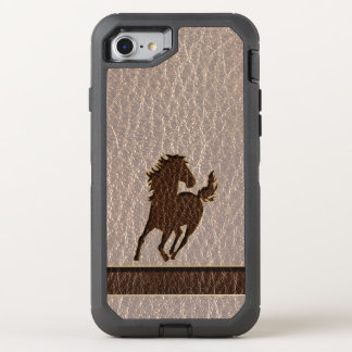 Leather-Look Horse Soft OtterBox Defender iPhone 8/7 Case
