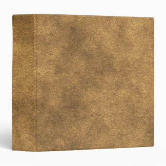 Leather Look In Gold 3 Ring Binder