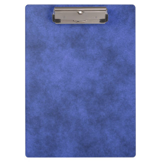 Leather Look In Overcast Blue Clipboard