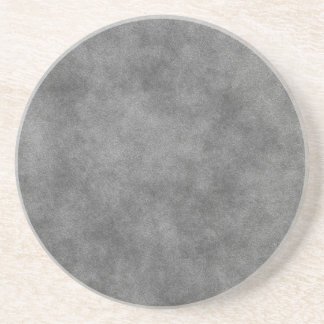 Leather Look In Slate Gray Coaster