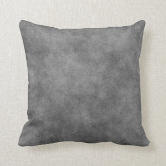 Leather Look In Slate Grey Throw Pillow