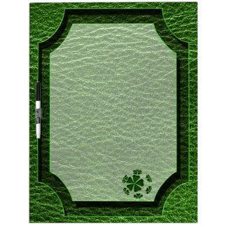 Leather-Look Irish CloverBall Dry-Erase Whiteboard