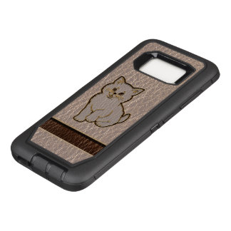 Leather-Look Kitten Soft OtterBox Defender Samsung Galaxy S8 Case