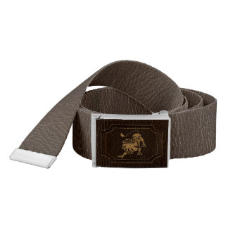 Leather-Look Leo Belt