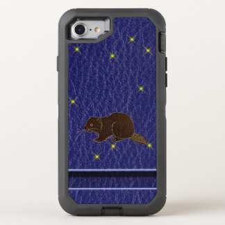 Leather-Look Native American Zodiac Beaver OtterBox Defender iPhone 8/7 Case