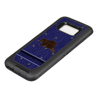 Leather-Look Native American Zodiac Beaver OtterBox Defender Samsung Galaxy S8 Case