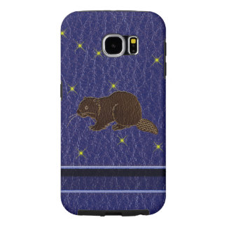 Leather-Look Native American Zodiac Beaver Samsung Galaxy S6 Cases