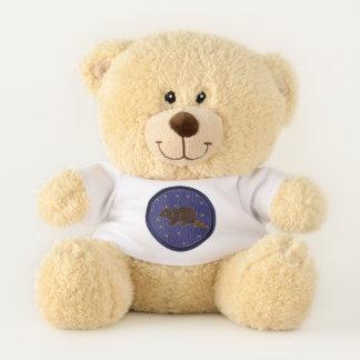 Leather-Look Native American Zodiac Beaver Teddy Bear