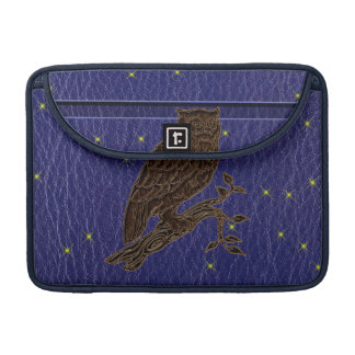 Leather-Look Native American Zodiac Owl Sleeve For MacBooks