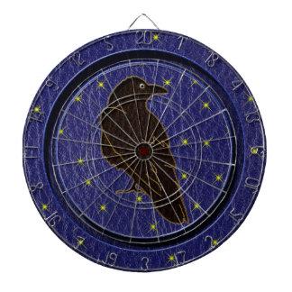 Leather-Look Native American Zodiac Raven Dart Boards