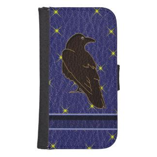Leather-Look Native American Zodiac Raven Galaxy S4 Wallets