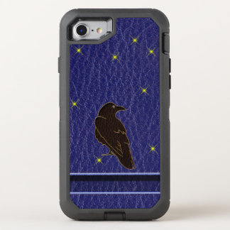 Leather-Look Native American Zodiac Raven OtterBox Defender iPhone 8/7 Case