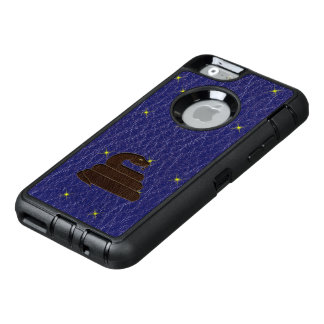 Leather-Look Native American Zodiac Serpent OtterBox Defender iPhone Case