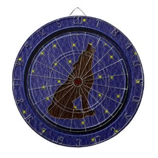 Leather-Look Native American Zodiac Wolf Dart Boards