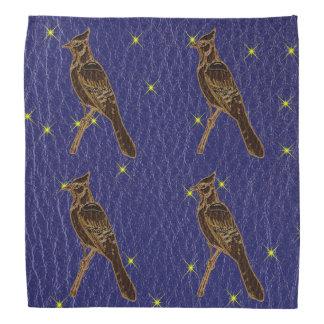Leather-Look Native American Zodiac Woodpecker Bandana