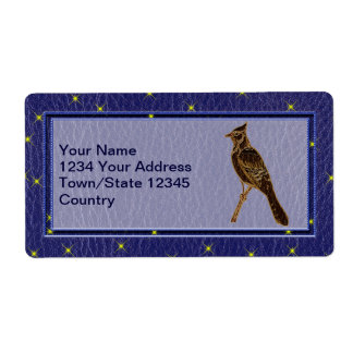 Leather-Look Native American Zodiac Woodpecker Shipping Label