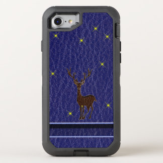 Leather-Look Native Zodiac Deer OtterBox Defender iPhone 8/7 Case