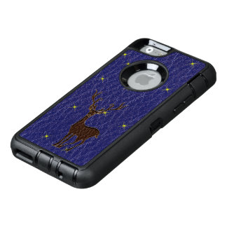 Leather-Look Native Zodiac Deer OtterBox Defender iPhone Case