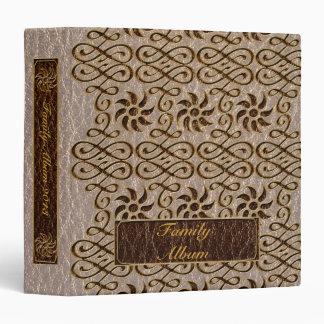 Leather-Look Ornament Soft Vinyl Binder