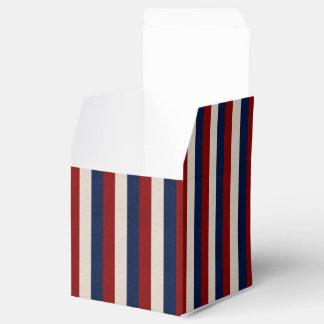LEATHER LOOK PATRIOTIC STRIPES-FAVOR BOXES,square Favor Box