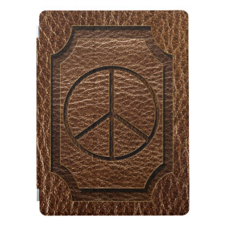 Leather-Look Peace Brown iPad Pro Cover