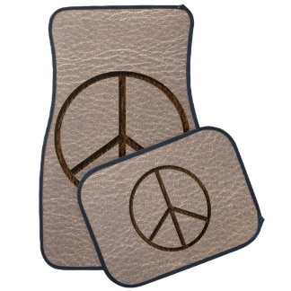 Leather-Look Peace Brown Soft Car Mat