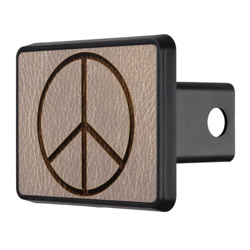 Leather-Look Peace Brown Soft Hitch Covers
