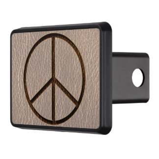 Leather-Look Peace Brown Soft Tow Hitch Covers