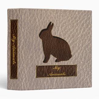 Leather-Look Rabbit Soft Vinyl Binders