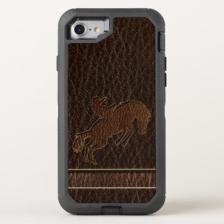 Leather-Look Rodeo Dark OtterBox Defender iPhone 8/7 Case