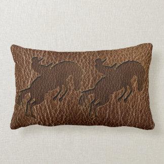 Leather-Look Rodeo Lumbar Pillow