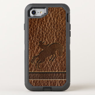 Leather-Look Rodeo OtterBox Defender iPhone 8/7 Case
