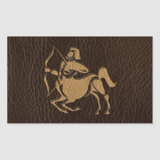 Leather-Look Sagittarius Sticker