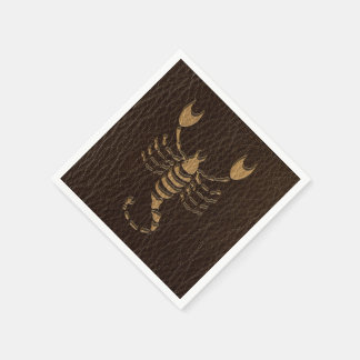 Leather-Look Scorpio Disposable Napkin