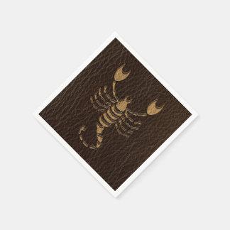 Leather-Look Scorpio Disposable Napkin