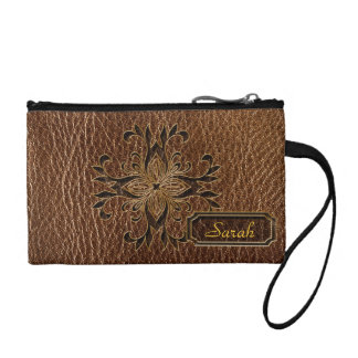 Leather-Look Star Coin Wallets