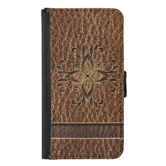 Leather-Look Star Samsung Galaxy S5 Wallet Case