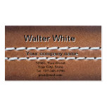 Leather-look texture business card
