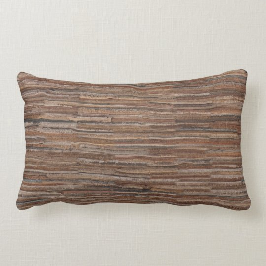 Leather-look texture lumbar pillow