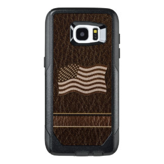 Leather-Look USA Flag Dark OtterBox Samsung Galaxy S7 Edge Case