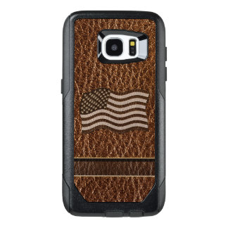 Leather-Look USA Flag OtterBox Samsung Galaxy S7 Edge Case